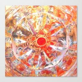 Aztec Solar Wheel Canvas Print