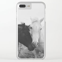 Horse Pair Clear iPhone Case