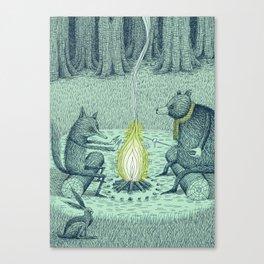 'Campfire' (Colour) Canvas Print