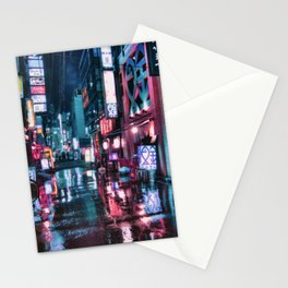 Tokyo at Night Stationery Cards