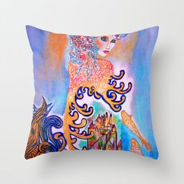 Midnight Sun #society6 #decor #buyart Throw Pillow