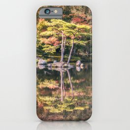 Japanese Garden, colorful in autumn in Kyoto. iPhone Case