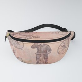 Vintage Bicycle Poster Fanny Pack
