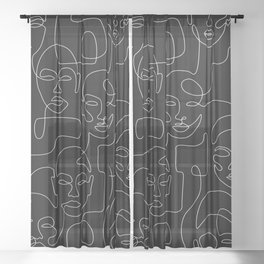 Crowded Night Sheer Curtain