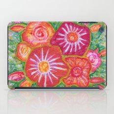 Orange Fantasy Flowers iPad Case
