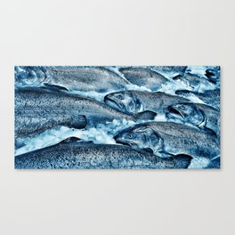 Pike Street Market Salmon by Crow Creek Coolture Canvas Print