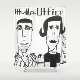 "Jonatan's ""At the Office"" Shower Curtain"