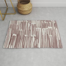 Simply Bamboo Brushstroke Red Earth on Lunar Gray Rug