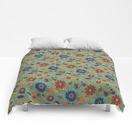 Flowers in colors Comforters
