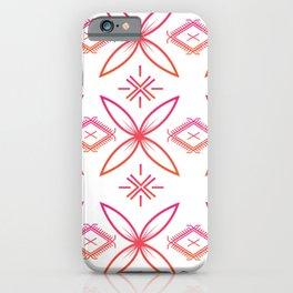 UrbanNesian Pink & Orange Siapo & Malu Design iPhone Case