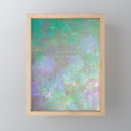 Believe You Can | Enchanted Greenery Framed Mini Art Print