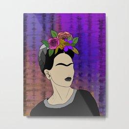 Frida in black Metal Print