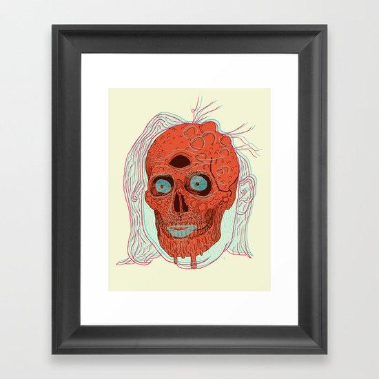 Anatomy of a Beetleman   Framed Art Print