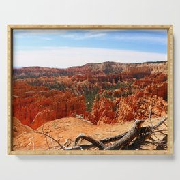 Sunset Point At  Bryce Canyon Serving Tray