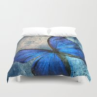 butterfly Duvet Covers featuring butterfly  by mark ashkenazi