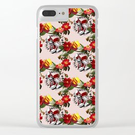 Floral sneaker Clear iPhone Case