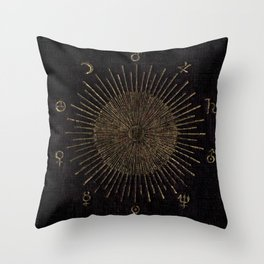 Astronomy Symbols Throw Pillow