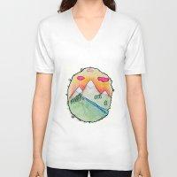 folk V-neck T-shirts featuring Folk by Oh Lapislazuli
