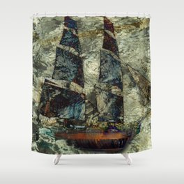 Riding the Gale Shower Curtain