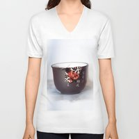 zen V-neck T-shirts featuring Zen by DS' photoart