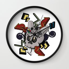 Skull player video games Wall Clock
