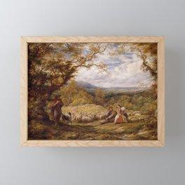 The Sheep Drive, 1863. Artist John Linnell Framed Mini Art Print
