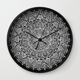 May your inner self be secure and happy (black) Wall Clock