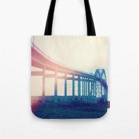 bridge Tote Bags featuring Bridge by Rolin