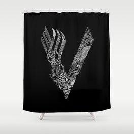 Black Vikings Shower Curtain