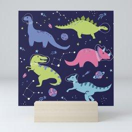 Dinosaurs in Space Mini Art Print