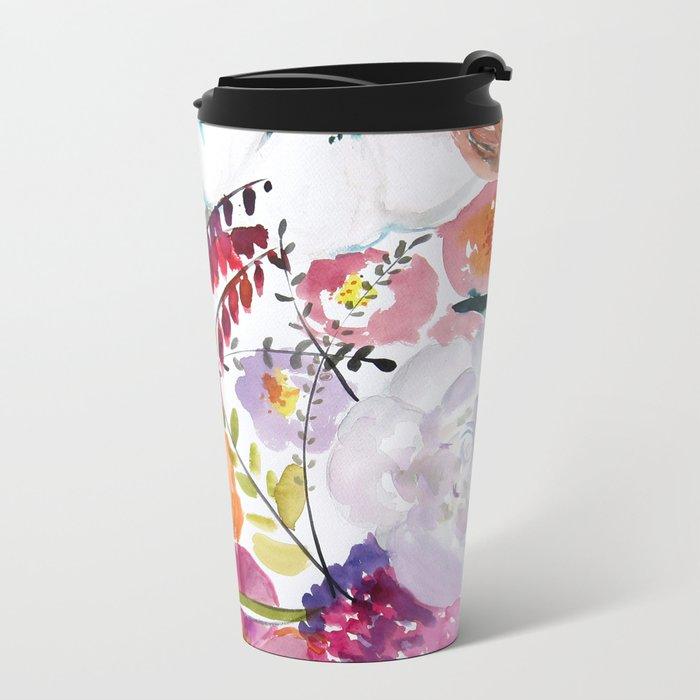 Bloom Metal Travel Mug
