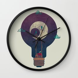 Nocturnal Pondering Wall Clock