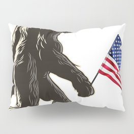 Hide and seek world champion USA Flag shirt bigfoot is real funny Tees Pillow Sham