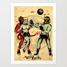 Boxing tattoo wars Art Print