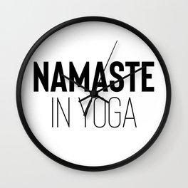 Namaste in Yoga Wall Clock