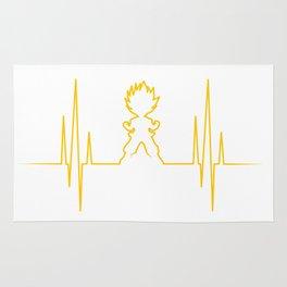 Saiyan heart Rug
