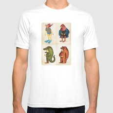 Costumes - Animalados MEDIUM Mens Fitted Tee White