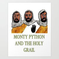 monty python Art Prints featuring Monty Python and the Holy Grail by AdrockHoward