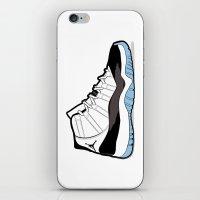 "air jordan iPhone & iPod Skins featuring Air Jordan XI Retro ""Concord"" by Graphkicks"