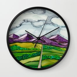 Take Me To The Mountains Wall Clock