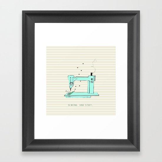 sew and stuff... Framed Art Print