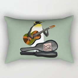Penguin Busking Rectangular Pillow
