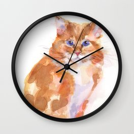 Tiger Rose Wall Clock