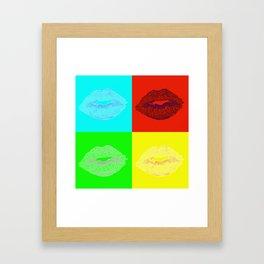 Lip Quad Framed Art Print