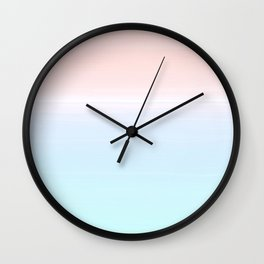 cotton candy sunset ombre Wall Clock