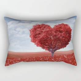 Tree heart Rectangular Pillow