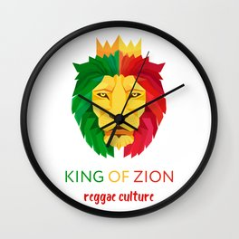 Reggae Lion Zion Wall Clock