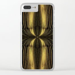 Golden Streamers Clear iPhone Case