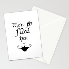 Alice In Wonderland We're All Mad Here 2 Stationery Cards