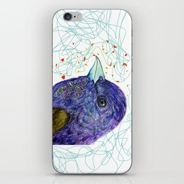 purple bird iPhone Skin